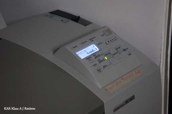 Pigmenttivedostaminen baryyttipaperille & kehystäminen isossa koossa 02/2009