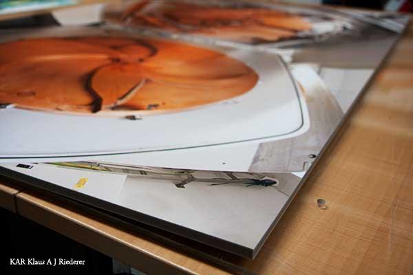 Pigmenttivedostaminen valokuvapaperille & pohjustaminen Kapa-Fixille 04/2009