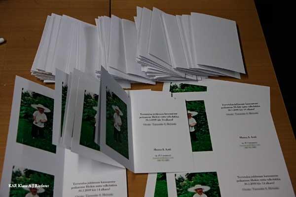 Kutsukorttien valmistaminen 05/2009