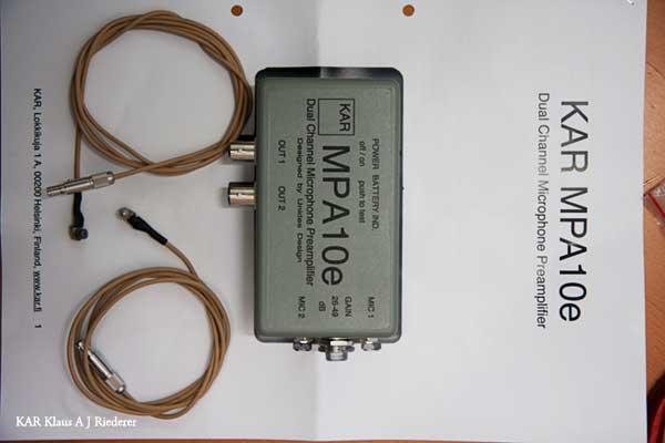 KAR MPA10e & KAR-BMPH microphones for HRTF measurements