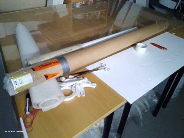 Pigmenttivedostaminen polyesterikankaalle Kansallisarkistoon 02/2010