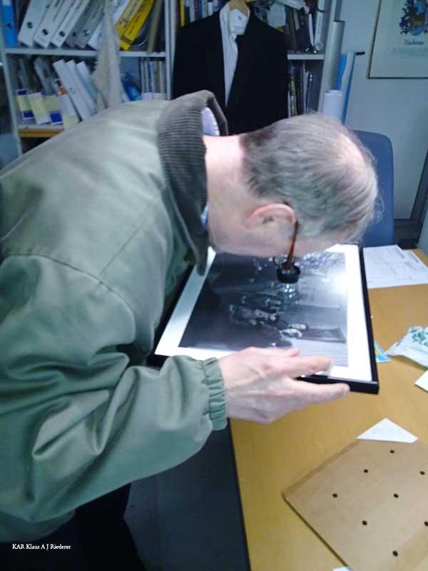 Lasinegatiivin digitointi, restaurointi, vedostaminen ja kehystäminen, Matti Vartia 04/2010