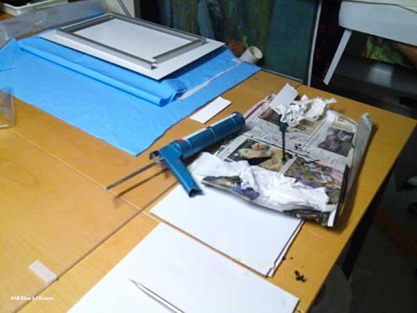 Alumiinikomposiittipohjustus & kuumalaminointi Ritva Lassilalle 05/2010