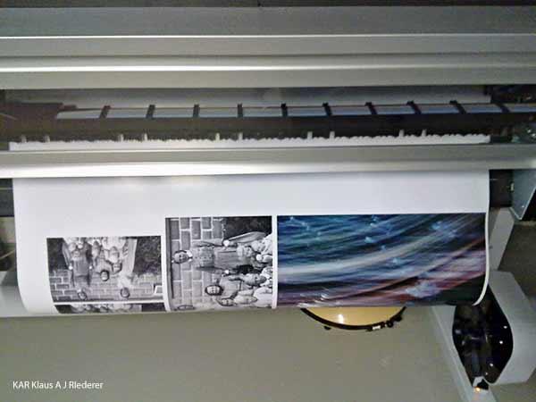 Reproskannattu pigmenttivedos vaihtokehykseen, Heli Riederer, 01/2010