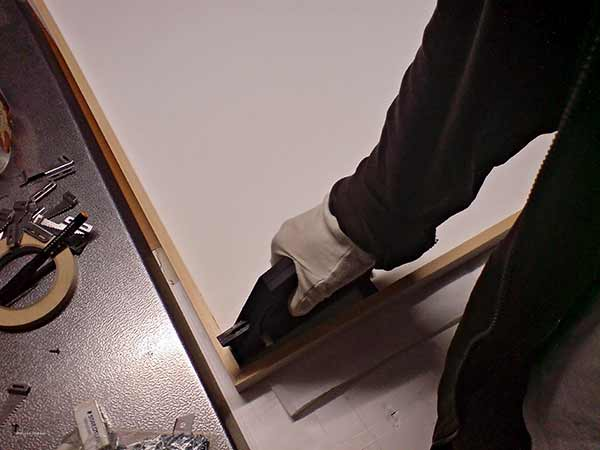 Diojen huippuskannaus nesteessa, pigmenttivedostaminen, lasikehykset paspalla nayttelyyn, Dan Palmgren, 03/2011