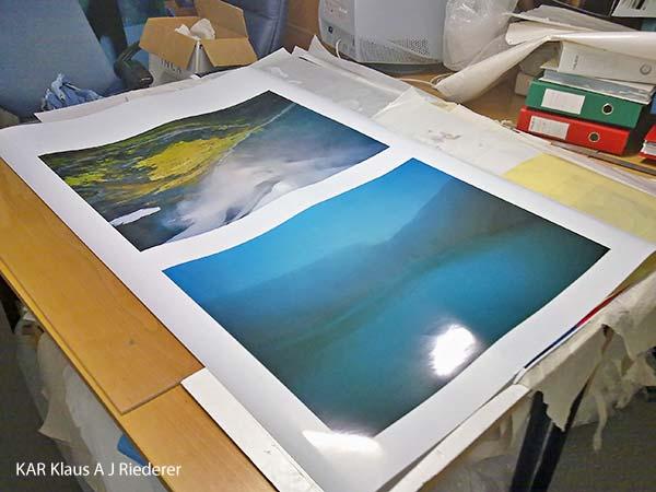 Pigmenttivedokset lasikehyksiin paspalla ja museolaadulla, Dan Palmgren, 05/2011