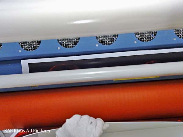 Pigmenttivedostaminen, alumiinikomposiittipohjustus & kuumalaminointi, Ahti Parviainen, 08/2011