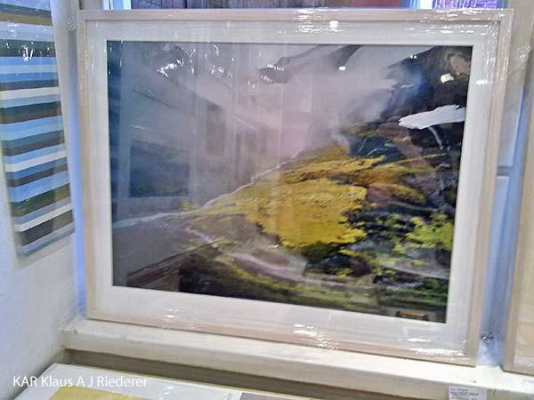 Pigmenttivedokset lasikehyksiin paspalla ja museolaadulla, Dan Palmgren, 09/2011