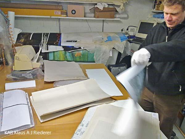 Pigmenttivedokset 40xX cm2, Dan Palmgren, 02/2012