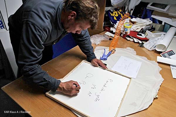 Pigmenttivedos lasikehykseen paspalla ja museolaadulla, Dan Palmgren, 09/2012