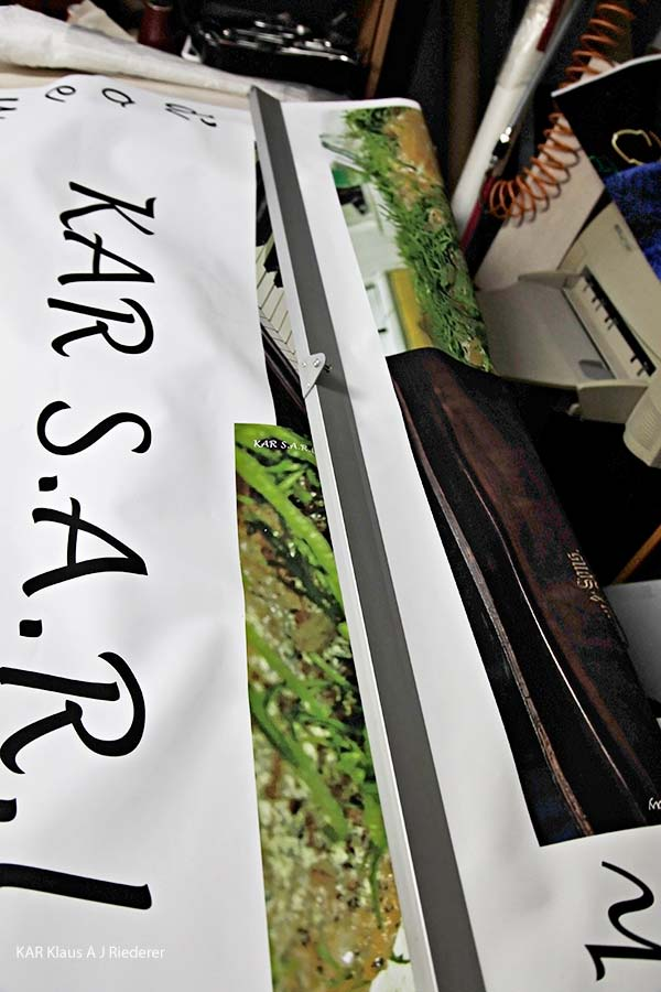 KAR S.A.R.L: hors d'oeuvre avec Steinway III, roll-upin ja flyereiden valmistaminen ja mainostaminen, 11/2012