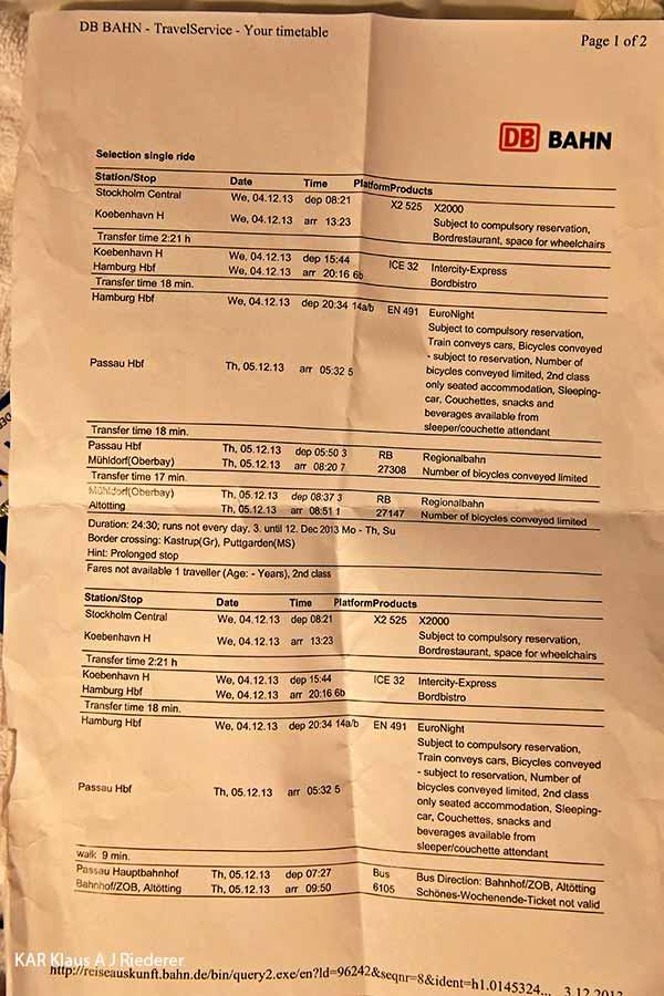 Dorin muistoa kunnoittaen, 12/2013 ja 01/2014