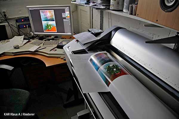 Pigmenttivedostaminen 13x18cm2, Ritva Lassila, 05/2014