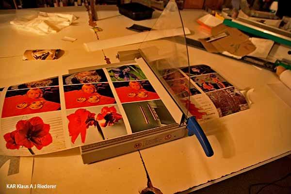 Pigmenttivedostaminen 13x18cm2 ja kayntikortit, Ritva Lassila, 11/2014
