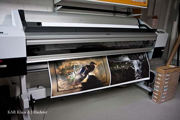 Pigmenttivedostaminen mattapaperille