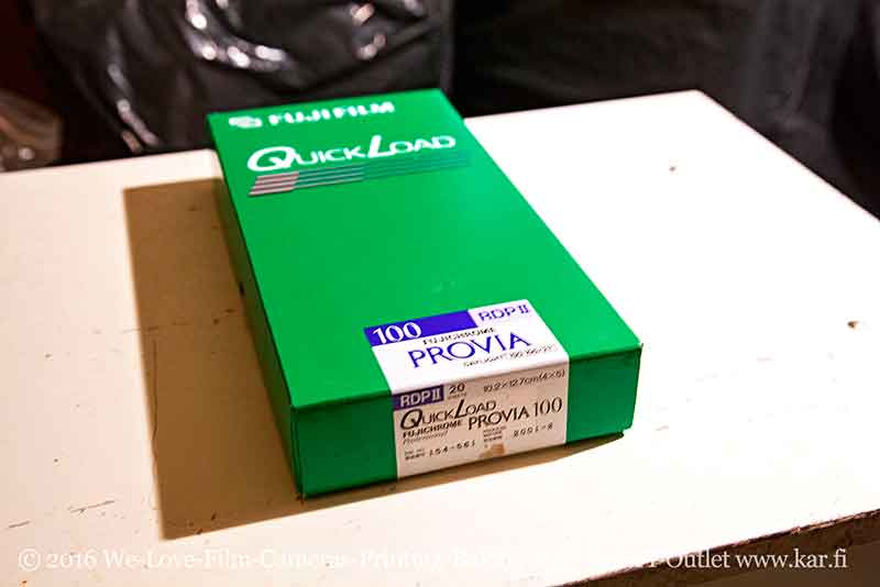 "FOR SALE Fuji Provia 100 RDPII 4x5"" QL film UNOPENED BOX 20 sheets EXPIRED 02/01 kept mostly frozen TESTED"