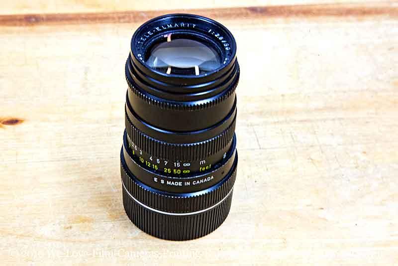 Leica Canada 90mm F2 8 black TELE ELMARIT lens Excellent condition for  Leica M screw mount cameras Location EU